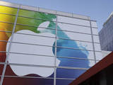 Exterior view of the Apple iPad 3 launch event in San Francisco