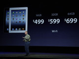 Senior vice president of Worldwide Marketing Phil Schiller announces new pricing for new iPad