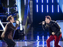 Team Adam Levine members Chris and Tony duetted on U2's 'Beautiful Day'.