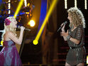 Blake Shelton's country singers go head-to-head in a performance of 'Free Fallin''.