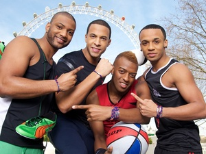 JLS support Team GB&#39;s official bracelet