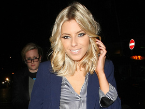 Mollie King leaves Nobu restaurant London