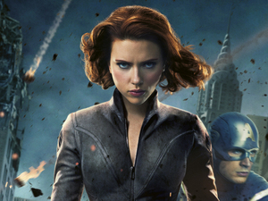 Scarlett Johansson as Black Widow.