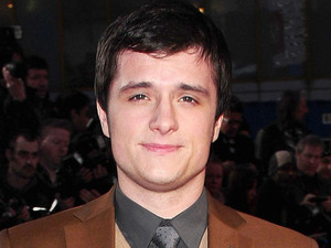 Josh Hutcherson arrives at the premiere of The Hunger Games at the O2 in London.