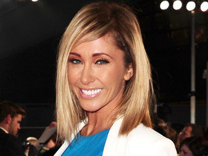 Jenny Frost arrives at the premiere of The Hunger Games at the O2 in London.