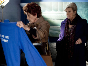 Dot and Cora find Andrew's jumper.