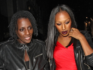 Melissa Bell and Alexandra Burke Alexandra Burke leaving Nobu Berkeley with her mother, before jumping into a taxi with a male companion London
