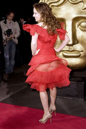 Geri Halliwell, accidentally flashes, BAFTA, wardrobe malfunction