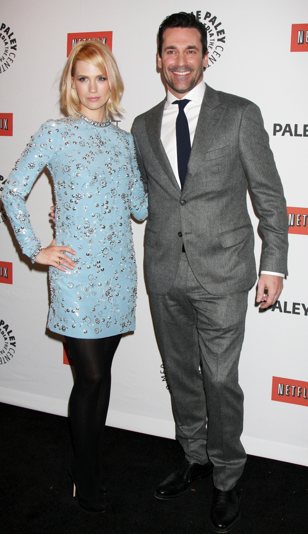 January Jones and Jon Hamm 'Mad Men' event at PaleyFest 2012 at Saban Theatre Los Angeles