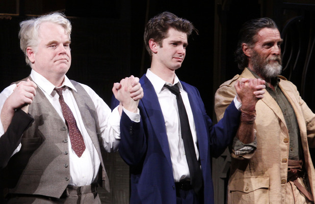 Philip Seymour Hoffman, Andrew Garfield and John Glover