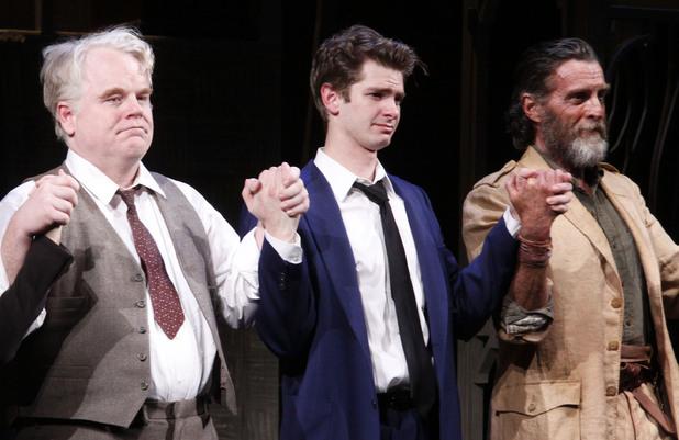 Philip Seymour Hoffman, Andrew Garfield and John Glover