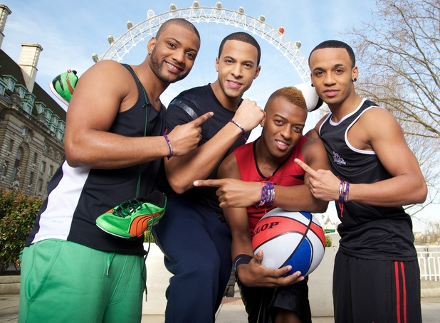 JLS support Team GB's official bracelet