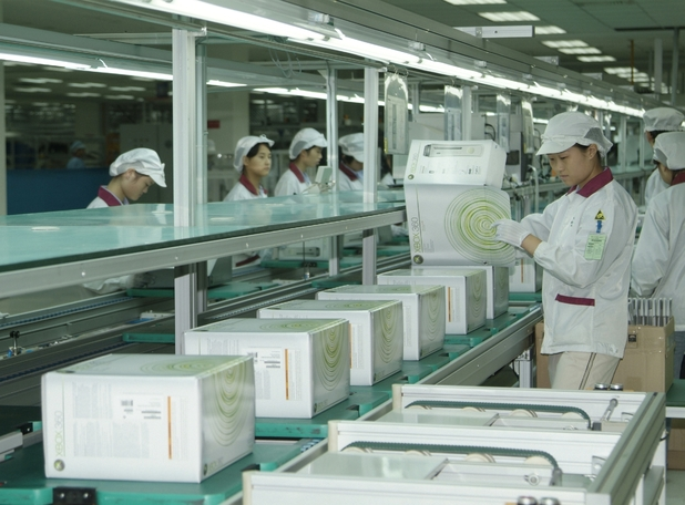 Xbox 360 in production