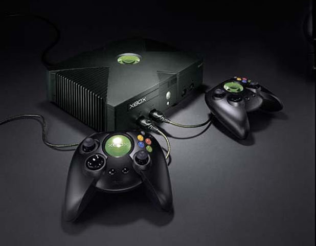 Xbox console with the original fatty controller