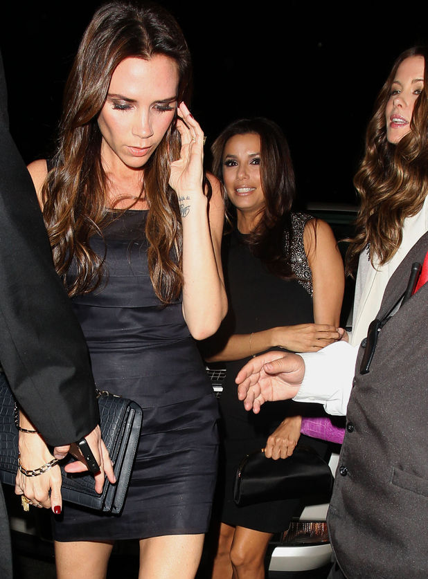 Victoria Beckham and Eva Longoria out for Eva's birthday