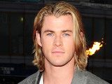 Chris Hemsworth arrives at the premiere of The Hunger Games at the O2 in London.
