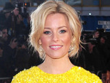 Elizabeth Banks arrives at the premiere of The Hunger Games at the O2 in London.