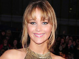 Jennifer Lawrence arrives at the premiere of The Hunger Games at the O2 in London.