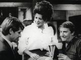 Coronation Street. Pat Phoenix (elsie Tanner) With Bill Roache (ken Barlow) And Peter Adamson (len Fairclough) In The Rovers Return