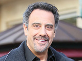 Brad Garrett Brad Garrett seen at the Grove for an appearance with Maria Menounos on the entertainment news show 'Extra' Los Angeles, California