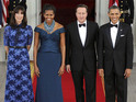 Today's pictures include Barack Obama hosting a state dinner with First Lady Michelle.
