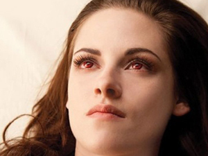 Kristen Stewart as a vampire in Breaking Dawn