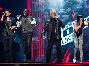 The Voice UK Episode 1 - Danny O'Donoghue, Will.i.am, Tom Jones, Jessie J performing together