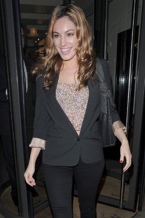 Kelly Brook leaving C London restaurant London, England