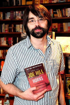 Author Joe Hill signs copies of his new book 'Horns' at Books & Books. Hill, born Joseph Hillstrom King, is the son of horror master Stephen King. Coral Gables, Florid