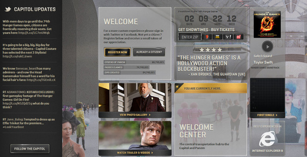 The Hunger Games Capitol Tour Site screenshot