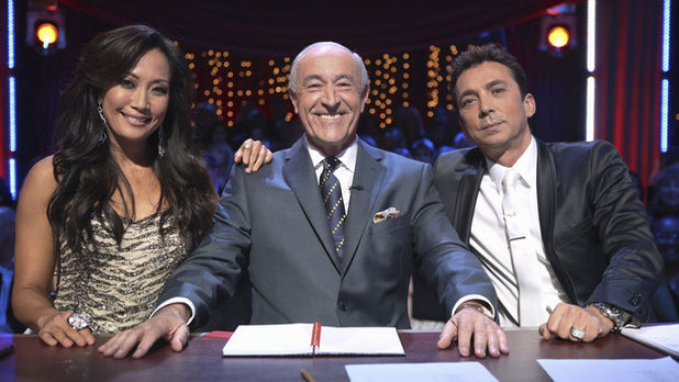 Dancing with the Stars judges Carrie Ann Inaba, Len Goodman, Bruno Tonioli