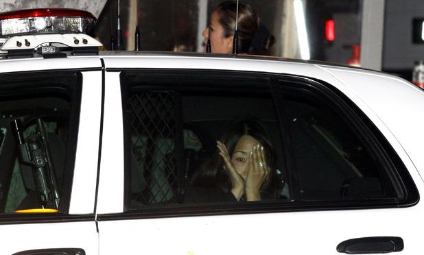 The woman who allegedly threw white powder onto Kim Kardashian