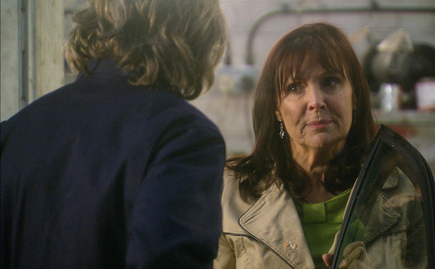Julia Parsons (Diane Keen) is wooed by garage owner Martin Millar (Miles Anderson)