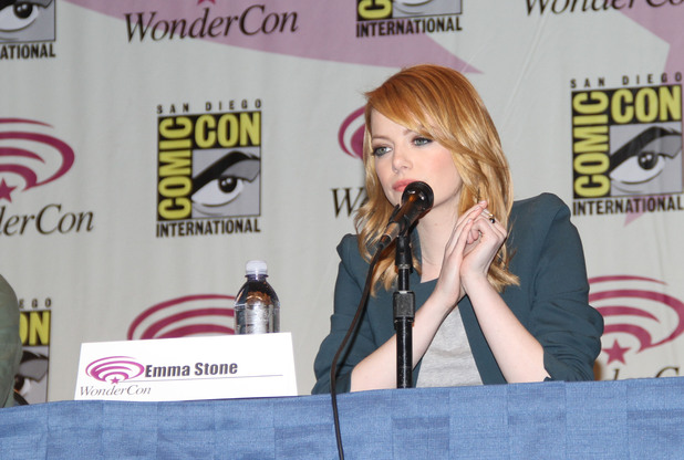 Emma Stone Wondercon 2012 - 'The Amazing Spiderman' press conference Anheim, California