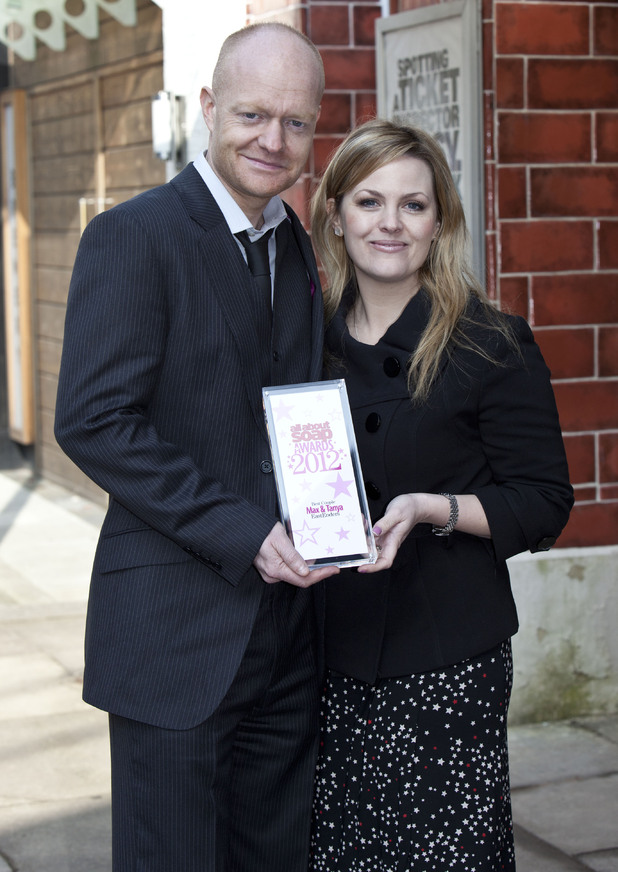 Jo Joyner and Jake Wood win Best Couple for EastEnders' Max and Tanya.
