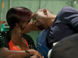Kim and Ray kiss after she shows her vulnerable side.
