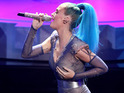 Today's celebrity pictures include Katy Perry performing at an awards ceremony.