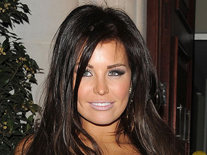 Jessica Wright enjoys a meal with friends at the Millenium Hotel in Mayfair. London