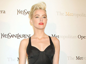 Amber Heard, at the Metropolitan Opera's premiere of 'Jules Massenet's Manon', held at the Metropolitan Opera House, Lincoln Center - Arrivals. New York City