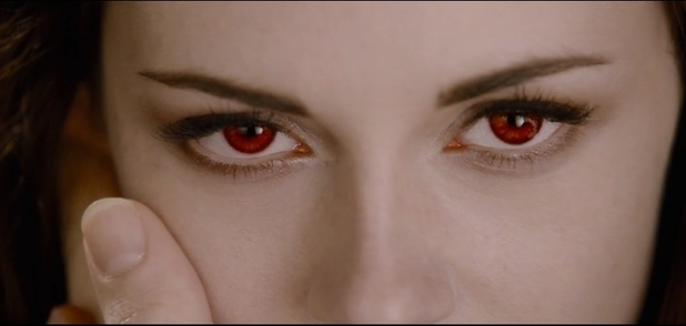 Kristen Stewart as a vampire in Twilight Breaking Dawn