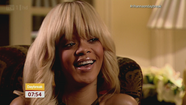 Rihanna appearing on 'Daybreak' discussing her new role in the movie 'Battleship'
