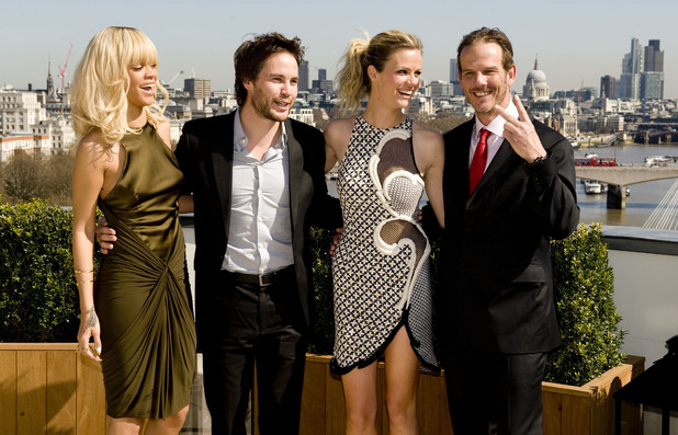 Rihanna, Taylor Kitsch, Brooklyn Decker and Peter Berg