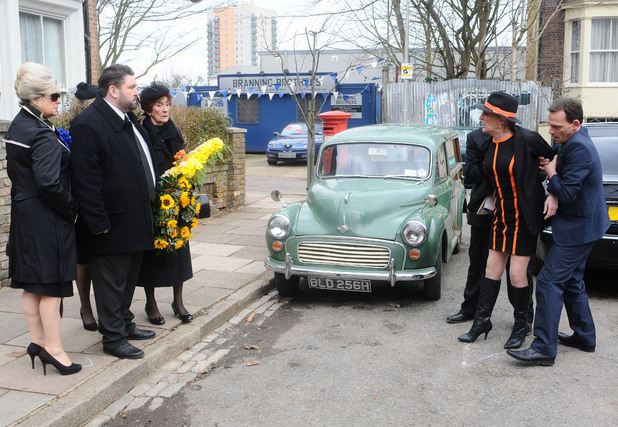 Shirley is furious when she sees Andrew making his way to Heather's funeral.