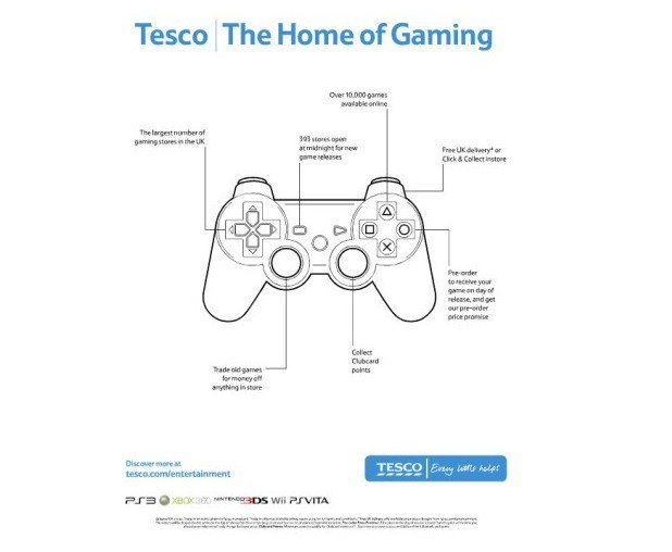 "Tesco ""Home of Gaming"" advertising campaign"