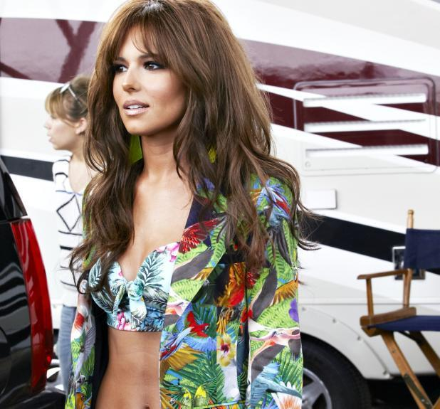 Cheryl Cole on the set of her new music video