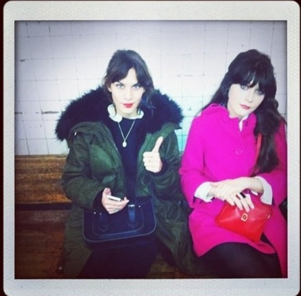 Alexa Chung and Zooey Deschanel