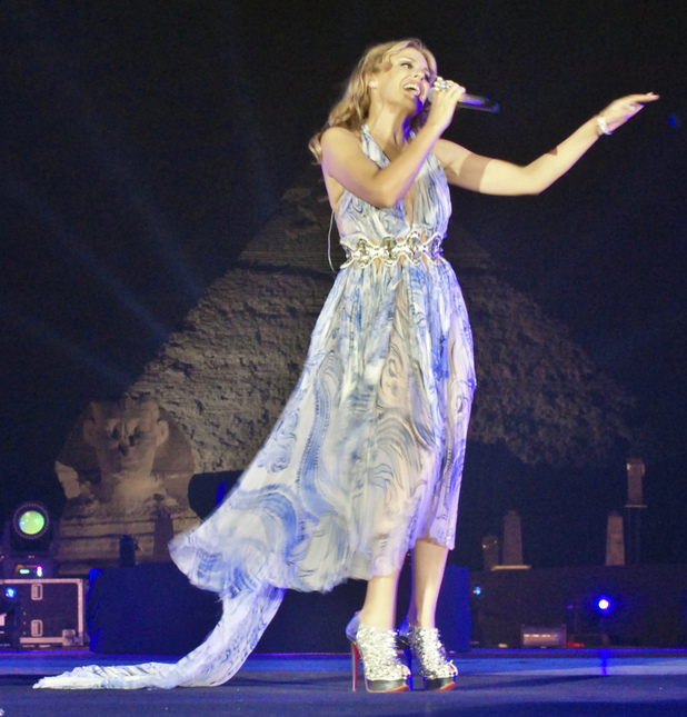 Kylie Minogue performs in Egypt