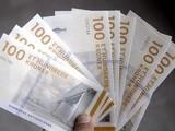 100 Danish Kroner banknotes