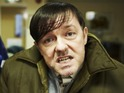 Ricky Gervais says Derek Noakes is more self-aware than The Office's David Brent.