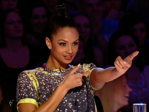 Alesha Dixon takes aim in Britain&#39;s Got Talent